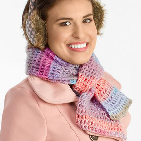 Crochet Mesh Scarf