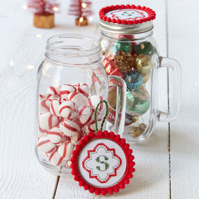 Monogram Jar Topper & Ornament