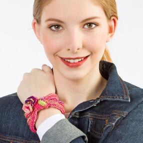Rings Around My Wrist Knit Bracelet
