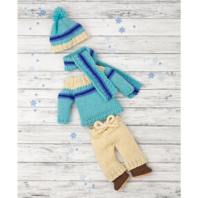 Doll's Knit Ski Outfit
