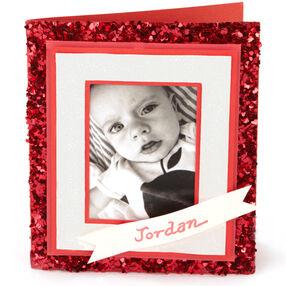 Heart-Glittered Photo Card