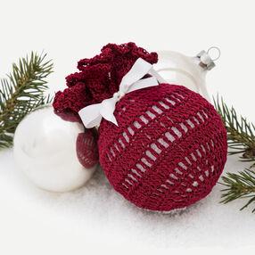 Crochet Christmas Ball Ornament