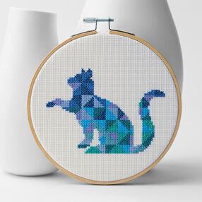 Cross Stitch Patchwork Kitty