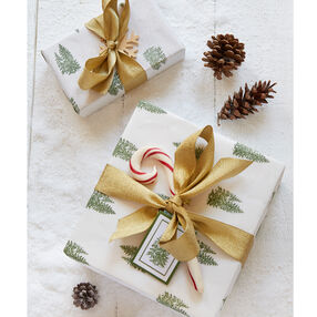 Pine Tree Gift Wrap & Tag