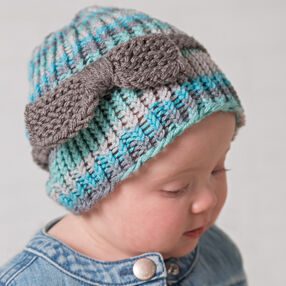 Loom Knit Baby or Toddler Bow Hat
