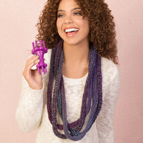 Loom Knit Tangle Necklace