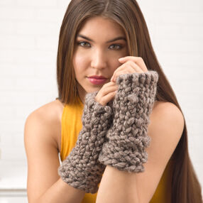 Loom Knit Fingerless Gloves
