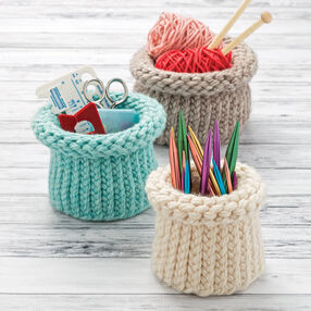 Loom Knit Nesting Baskets