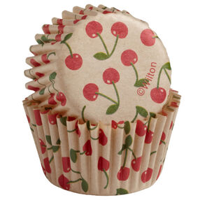 Wilton Unbleached Cherry Pattern Mini Baking Cups, 100 Ct. 415-2282