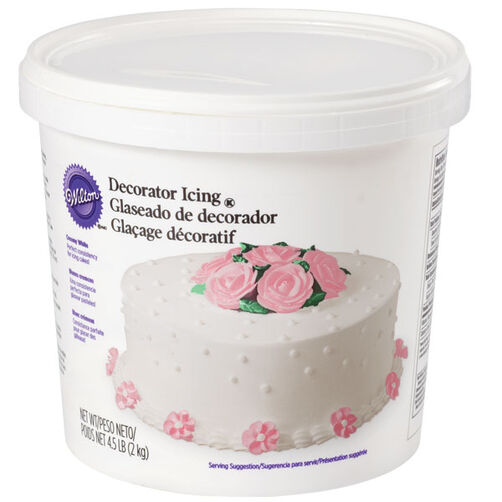 White Ready-To-Use Decorator Icing - 4.5 lb. Tub