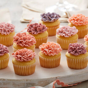 Carnation Mini Cupcakes