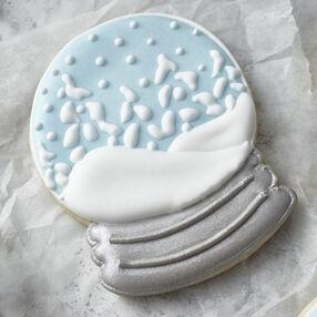 Sparkly Snow Globe Cookies