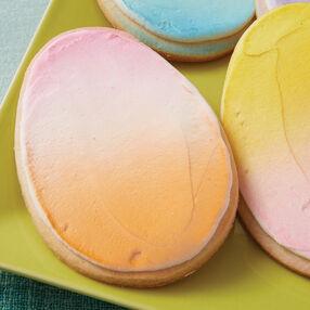 Pastel Easter Egg Cookies
