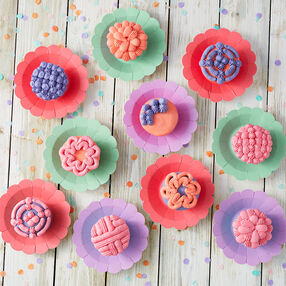 Color Block Cupcakes