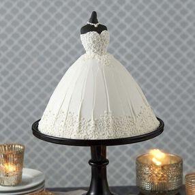 Elegant Wedding Dress Cake